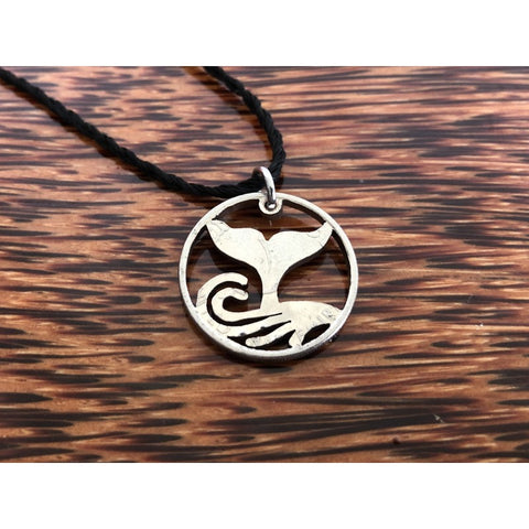 Whale Tail Cut Coin Necklace