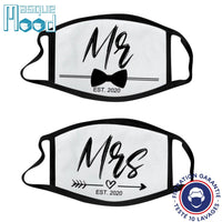 Masques en Tissu Couple | Mr & Mrs