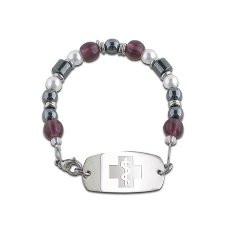 Crushed Grape Bracelet - Small Emblem - Lobster Clasp