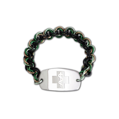 Mini Mail Bracelet - Small Emblem - No Clasp     - Camo