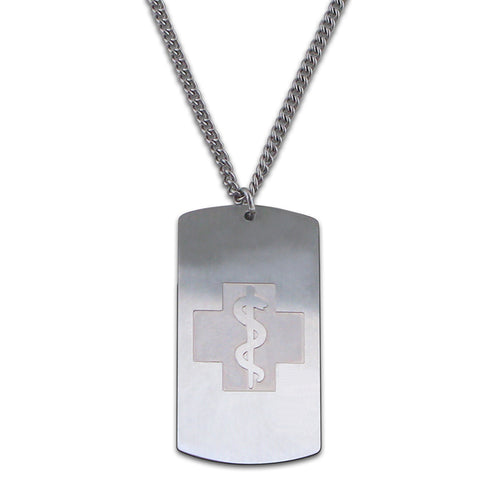 NEW! Endless Dog Tag Necklace - Endless Chain - No Clasp