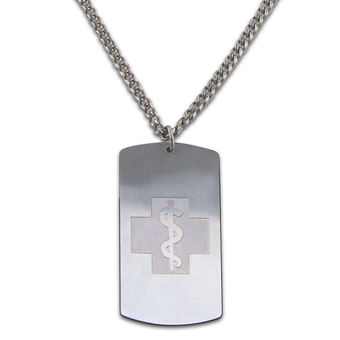 NEW! Elegant Dog tag Necklace - Mackenzie Chain - Lobster Clasp