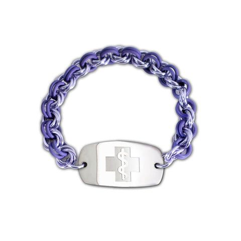 Mini Mail Bracelet - Small Emblem - No Clasp - Lilac