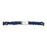 NEW! Paracord Bracelet - Small Emblem - Buckle Closure - Blue