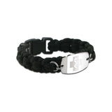 NEW! Paracord Bracelet - Small Emblem - Buckle Closure - Black