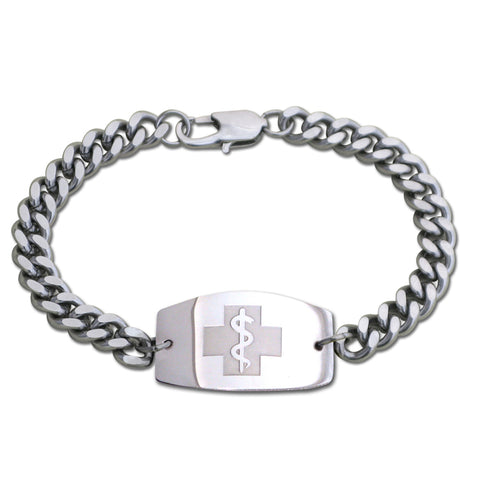 Quantum Bracelet - Large Emblem - Split Chain - Lobster or Safety Clasp