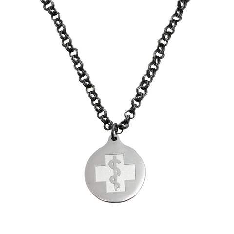 Rebecca Necklace - Medallion Emblem - Lobster Clasp