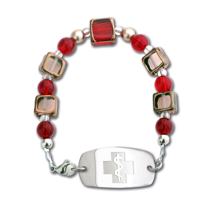 Stained Glass Bracelet - Ruby & Rosaline - Not For Children 12 & Under