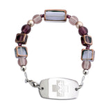 Stained Glass Bracelet - Sapphire & Amethyst - Not For Children 12 & Under