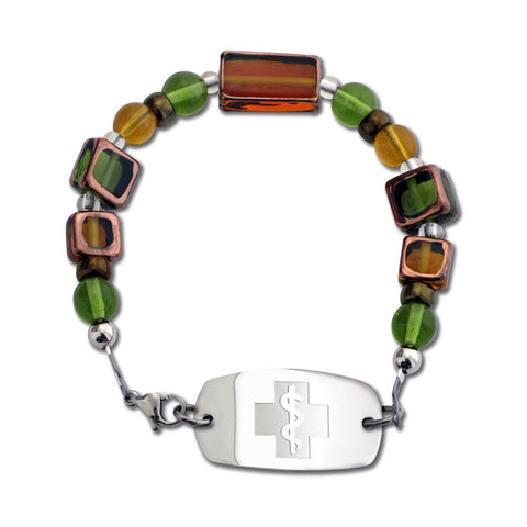 Stained Glass Bracelet - Topaz & Olivine - Not For Children 12 & Under