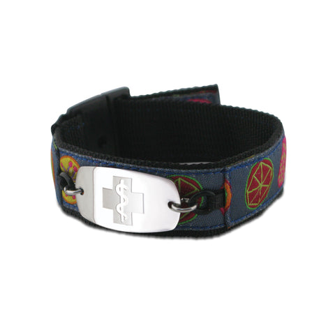 NEW! Sports Band - Small Emblem - Buckle Closure - Blue Print