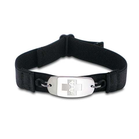 SuperSoft Band - Small Emblem - No Buckle - Black