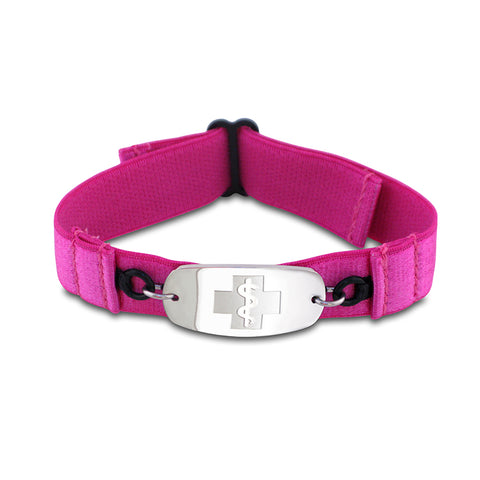 SuperSoft Band - Small Emblem - No Buckle - Fuschia