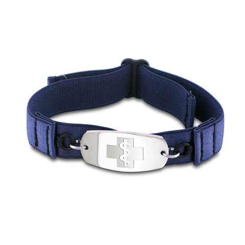 SuperSoft Band - Small Emblem - No Buckle - Navy Blue