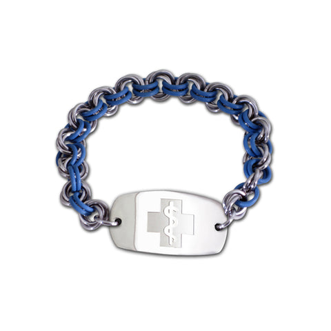 Mini Mail Bracelet - Small Emblem - No Clasp - Surf