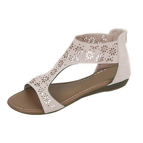 Crazy Daisies Summer Sandals -Color: Cream, Size: 11
