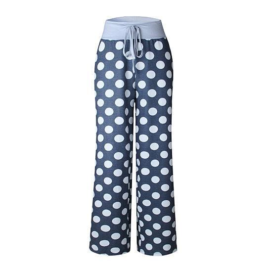 Goodnight Moon Pajamas Soft And Cute -Size: Large, Color: SKY BLUE POLKA