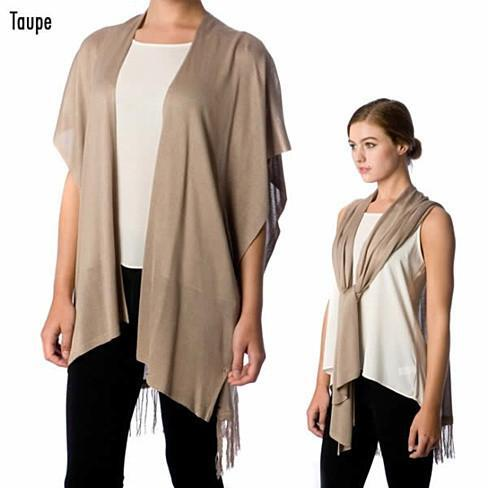 SCARDIGAN - It's a 2 in 1 Versatile Scarf as well as Cardigan - Color: Ivory Cream