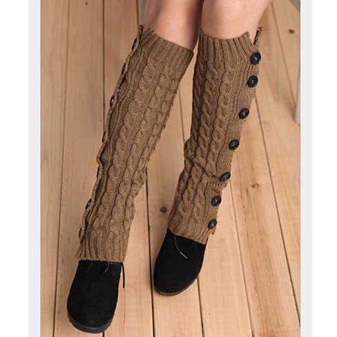 Fancy Feet - Button up your Boot Socks - Color: Dark Brown