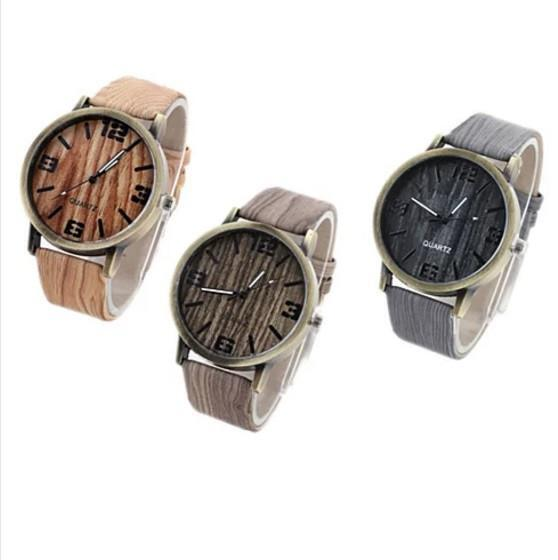 Woodchuck Wood Grain Style Exotic Watches - Color: Mahogany Brown