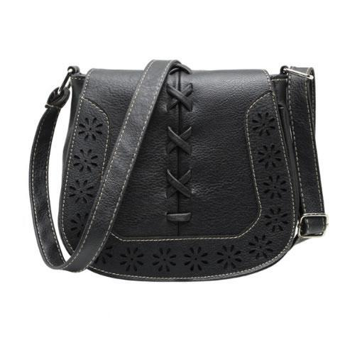 Daisy Dots Follow The Sun Handbags In 8 Colors - Color: Black Beauty