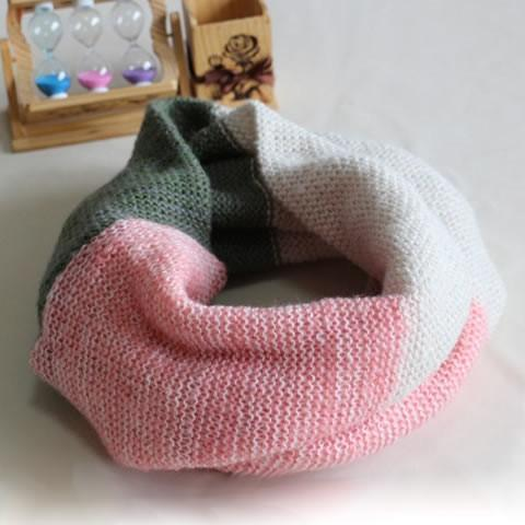 Awesome Hues TRI Color Infinity Scarves - Style: Coral Fare