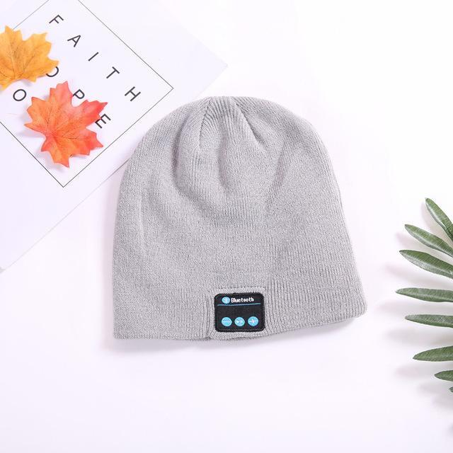 Musical Beanie Bluetooth Hat - Color: Grey