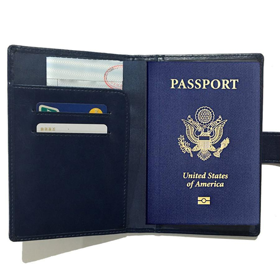 Passport Wallet with RFID Safe Lock - Color: Black