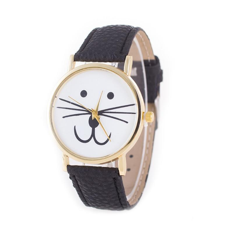 Mr. Whiskers Cat Watches 9 lives And 9 colors - Watch Color: Black
