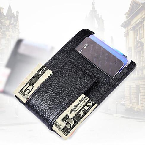 Money Clip with RFID Safe Wallet - Color: Pink