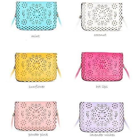 Social Butterfly A Flower And A Butterfly Filigree Design Crossbody Bag -Color: Horizontal - Cross Body, Purse Style: Powder Pink