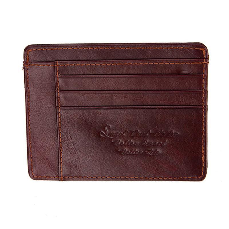 Anti-Theft and Anti-Lost Bluetooth Enabled Wallet - Color: DARK BROWN