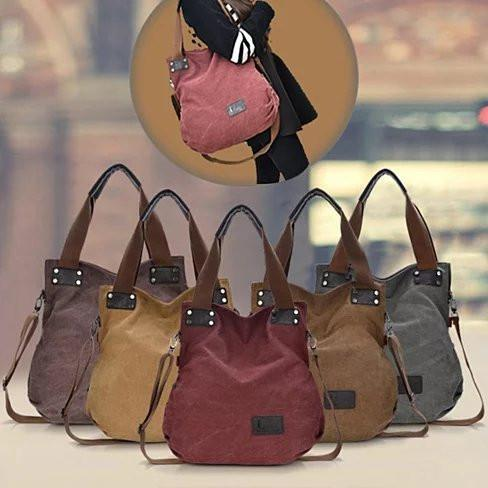 Gypsy Soul Canvas Hand Bag - Color: Brown