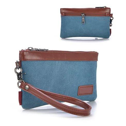 This & That Clutch and Wrist let 2 in 1 Purse - Color: Aqua Blue