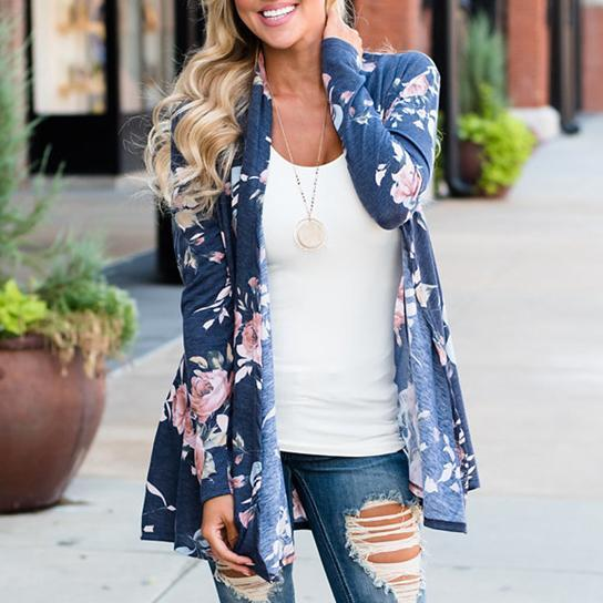 Rozy Rozy Cardigans In 2 Colors -Size: Large, Color: Blissful Blue