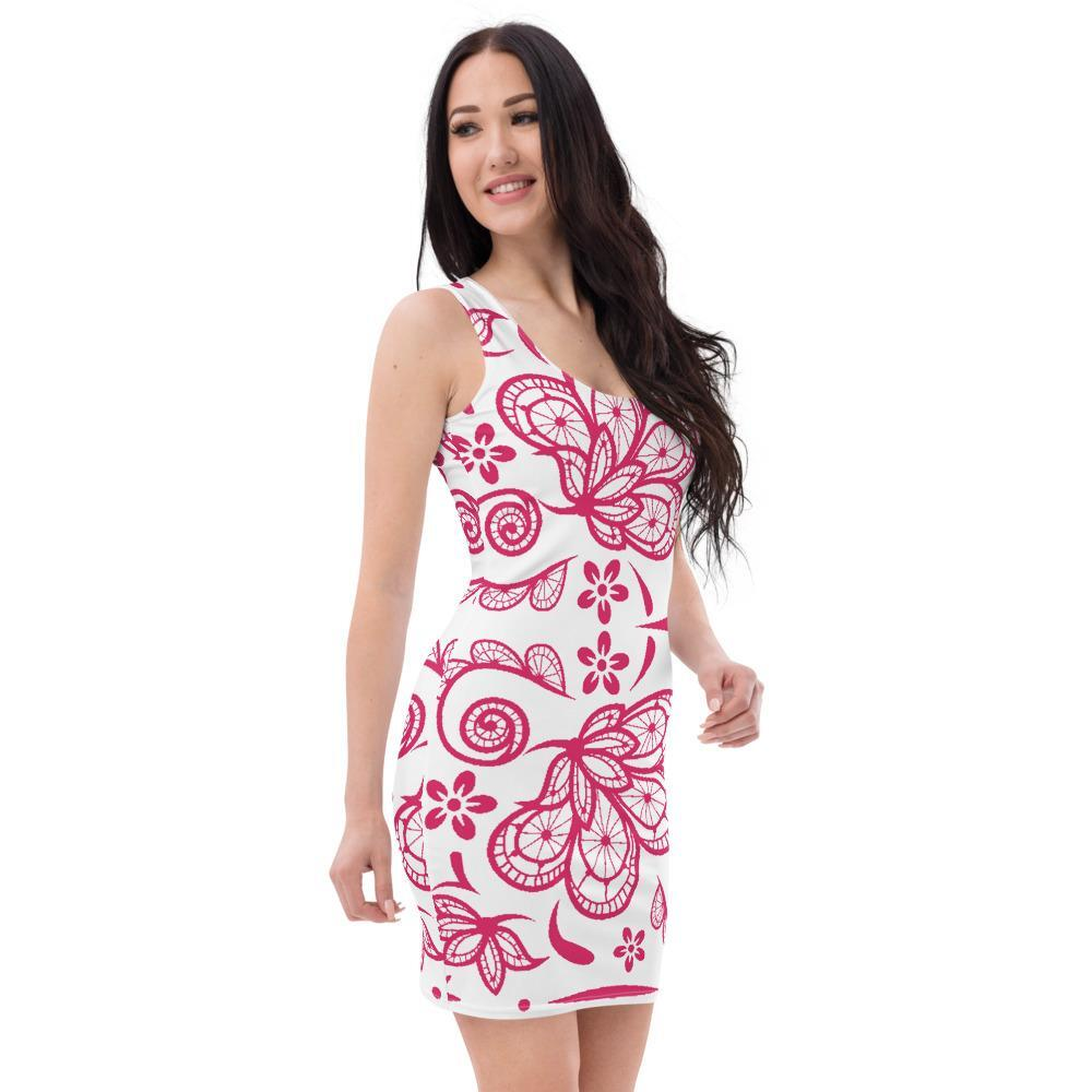 Womesn Dresses, Red Lace Raceback Style Tank Top Dress