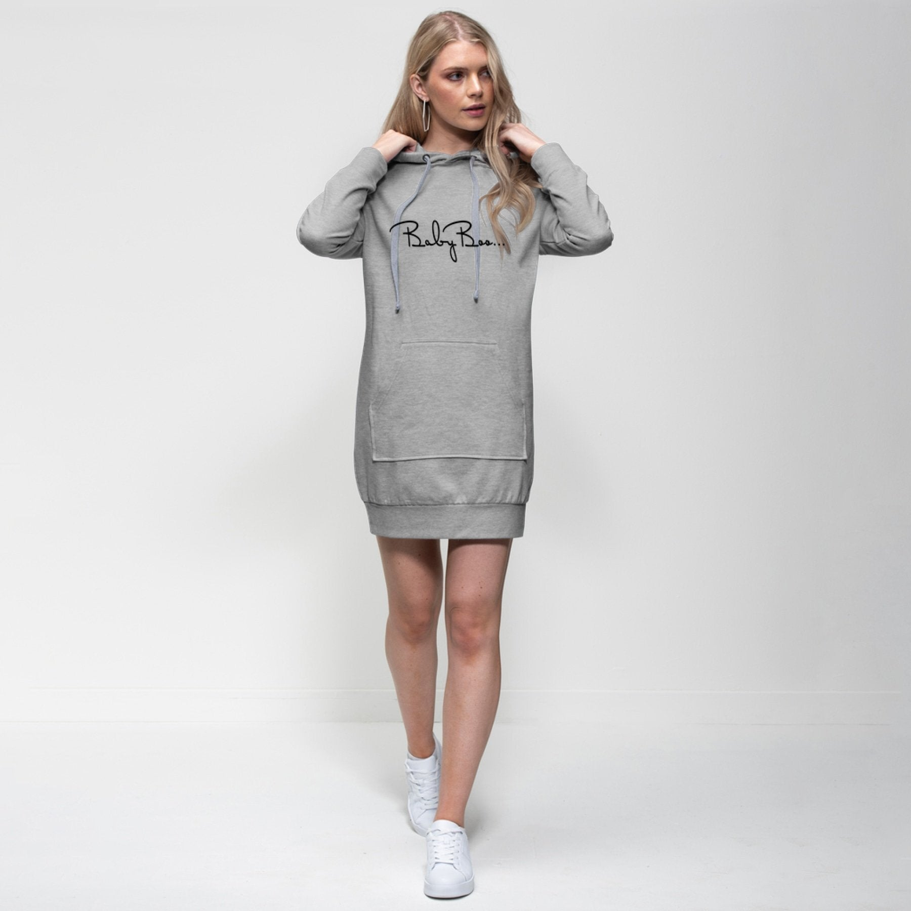 Baby Boo Black Graphic Style Premium Adult Hoodie Dress