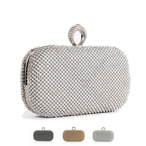 My Diamond Ring Clutch - Color: Pewter
