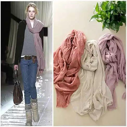 POETRY IN MOTION Modern Vintage Shawl Scarves - Color: B - Mauve
