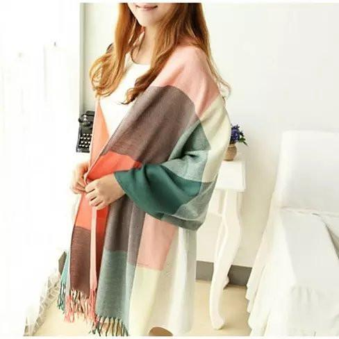 COLORAMA Reversible Shawl Full Of Colors - Color: Blush Peach - A