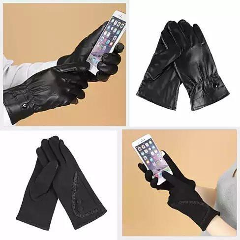 Zen And Zinu Men's And Women's Touch Friendly Gloves - Style: Men