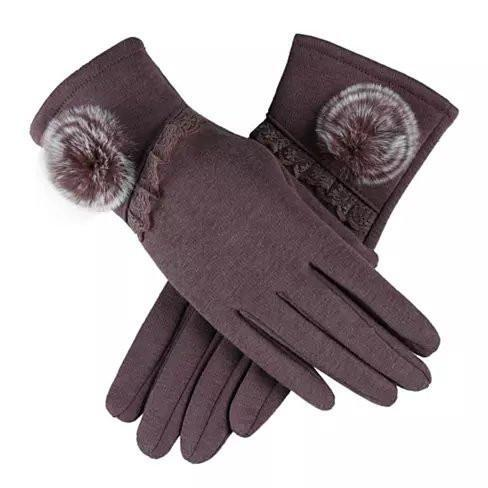 SWEET ROZINA Touch Gloves - Color: Brown