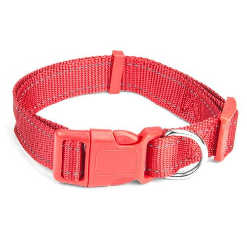 Large Red Adjustable Reflective Collar