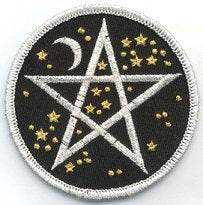 Starry Pentagram iron-on patch 3""