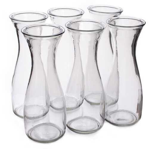 34 oz. (1 Liter) Glass Beverage Carafe, 6-pack