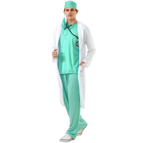 Dashing Doctor Adult Costume, XXL