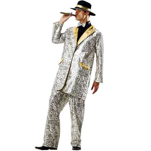 Men's Money Suit Halloween Costume, X-Large