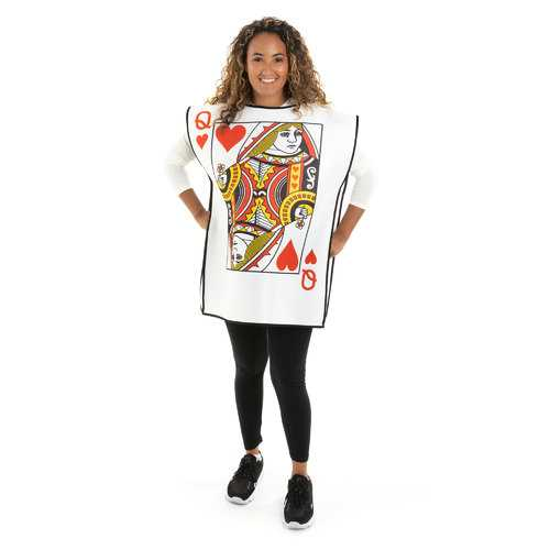 Queen of Hearts Playing Card Adult Costume