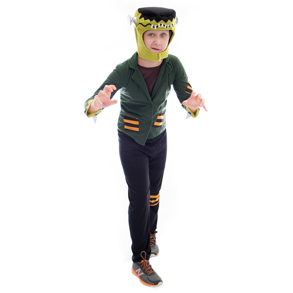 Flat-top Frankenstein Halloween Costume, Medium