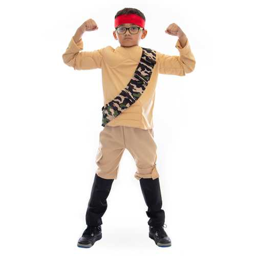 Jungle Fighter Halloween Costume, 8-10